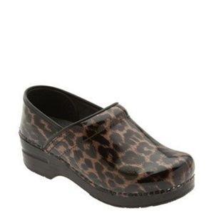 Leopard Dansko Professional Clogs